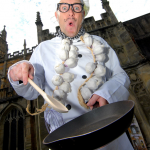stilt walking chef entertainer