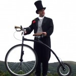 victorian themed cyclist