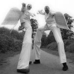 stilt walking angels