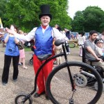 cycling entertainer penny farthing