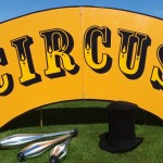 circus skills workshop sign