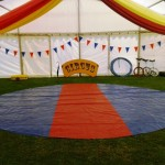 circus skills tent ready for workshop