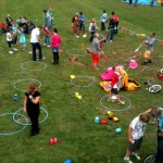 circus skills workshop in action