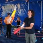 club juggler at circus skills workshop
