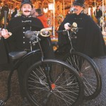 omedy britishpolicemen with penny farthings