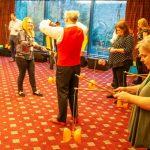 circus skills workshop, corporate event