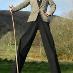 english country gent stilt walker