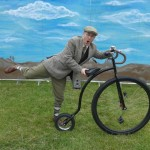 tweed gent cycling entertainer