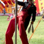 stilt walker comedy dancing