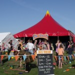 circus skills workshop area at summer festival
