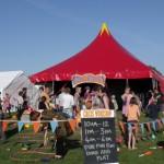 circus skills area at festival