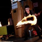 fire devil stick juggler