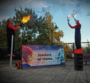 fire juggling show