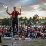 fire jugglers show