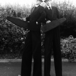 stilt walking gangsters