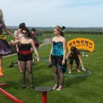 circus skills tight rope walking