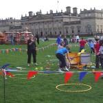 circus skills workshop area at Harewood house