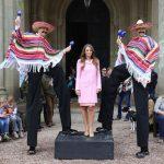 Mexican themed stilt walkers