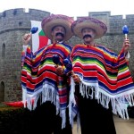 mexican themed stilt wallkers