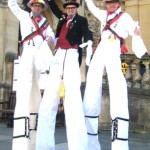 morris men entertainers on stilts