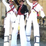 morris dancers on stilts