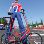 olympic themed stilt walker