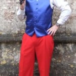juggler, red, white & blue costume