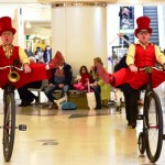 cycling entertainers, shopping centre