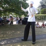 stilt walking chef