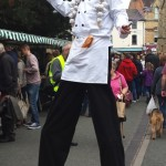 stilt walking french chef