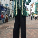 stilt walking pirate