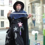 wizard stilt walker