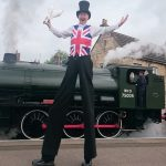 union flag / best of British stilt walker