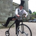 entertainer on penny farthing
