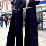 stilt walkers - victorian themed