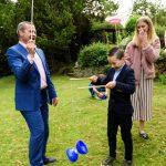circus skills at wedding