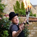 fire juggling entertainer