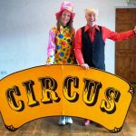 circus skills workshop at hen party