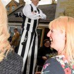wedding stilt walker